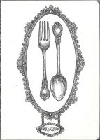 Forks and Spoons - Sketchbook Project by decomposerdoll