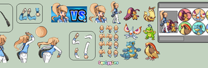Trainer cherry Sprites by SquiggleChan