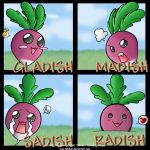 The emotions of a Radish by Tabikat