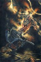 Gothmog vs Fingon, King of the Noldorin Elves by KipRasmussen