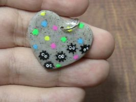 Painted Soot Sprite Pendant by MEWtube3000