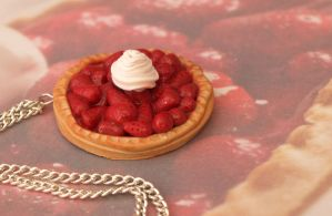 Strawberry Pie Pendant by DeliciousTrickery