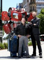 Optimus Prime meets Peter Cullen photoshoot by Old-Trenchy