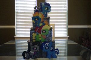 My Little Pony New Perler Background Silly Fillies by Perler-Pony