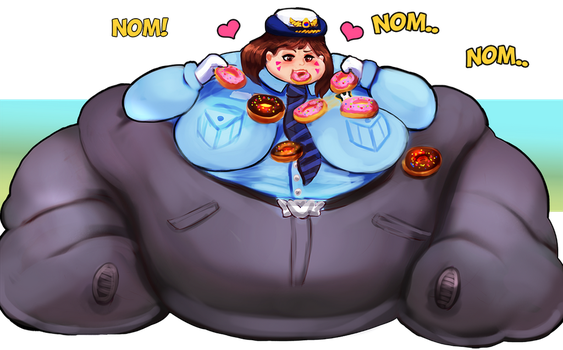 Fat Officer D.Va - Overwatch Plumps by Plumpchu
