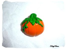Pumpkin Halloween Brooch by Cateaclysmic