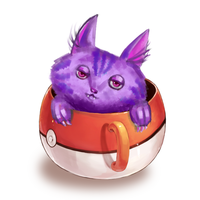 Cheshire In A Cup by nikkeae