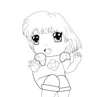Super Cute Chibi Lineart by FEARprototype