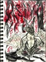 dragon sketch - collage by Herr-LASHER