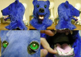 Blue Polar Bear mask by xiamara13