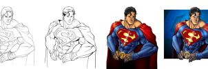 Superman Progression by GavinMichelli