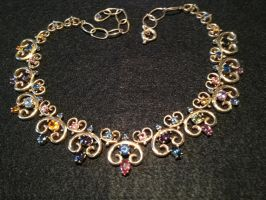 Colors of Saphire Necklace by The-EvIl-Plankton