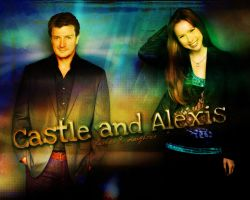 Castle and Alexis by Flyli