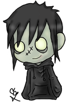 Jimmy as Chibi Zombie by ClearGuitar