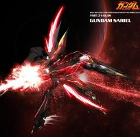 Gundam Sariel P3 RedMoon by masarebelth