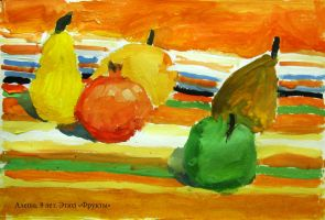 Alesha, 8 years. Fruits by vasoiko