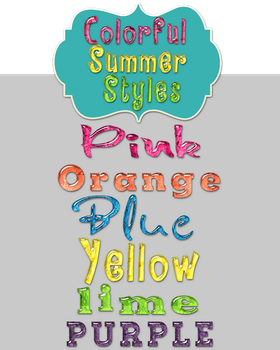 Colorful Summer Photoshop Styles by StacyO