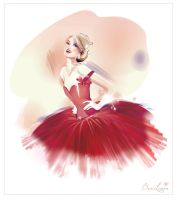 couture 50's red dress by BreeLeman