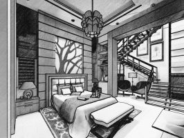 Master bedroom sketch by yasseresam