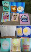 Paintings Progress by marywinkler