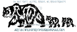 Father Bear And Cubs Tribal Design by WildSpiritWolf