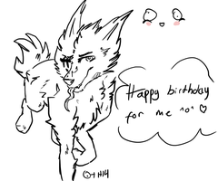 happy birthday for me :D by Unikonkukka