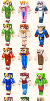 Zelda Minecraft Skin Collection by thenick1513