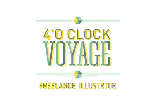New logo: 4'o Clock Voyage. Freelance Illustrator by UMINluvILLUSTRATION