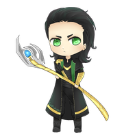 Chibi Loki by FedeMidnight