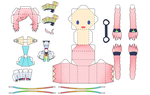 Papercraft Vocaloid Rana by dorothy3242