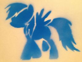 Rainbow dash Stencil by SCARFI5H