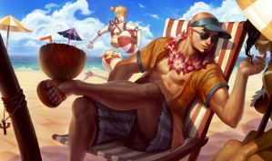 Pool Party Lee SIn by WarrioroftheSoul