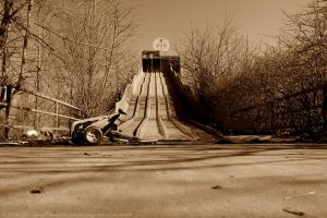 Playground slide sepia by TimelessSSoul
