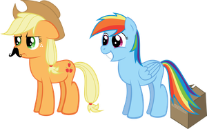 Applejack has mustache! by Pasuri98