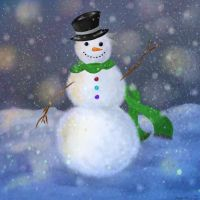Snowman by StrawberryCrescent