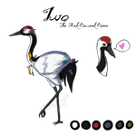 Iwo the Red Crowned Crane by chiimeraa
