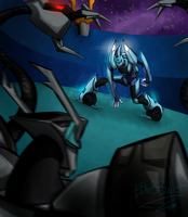 Blurr And Shockwave by BBlueBBullet