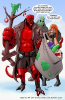 TLIID 148. Hellboy vs the Grinch by AxelMedellin