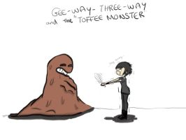 gee-way-three-way and the toffee monster by Shmikoprincess