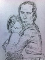 Nick Cave and Susie Bick by Mitsuukii