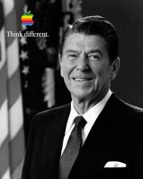 Ronald Reagan Think different by howiedi2