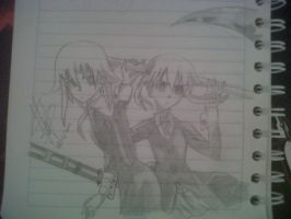 Chrona and Maka by PhineasFan1
