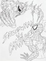 Carnage VS Spiderman by FrostyX999