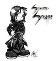 Teh Chibi Snape Watches Joo by ArissaDeathdoll
