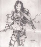 Warriors, gunman sketches by angieluvsyou