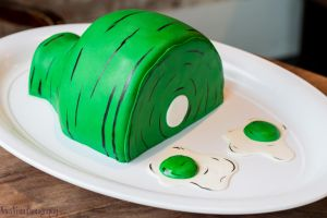 Green Eggs and Ham (Dr. Seuss) Cake by novavistaphotography