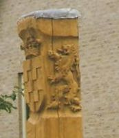 coat of arms Dalfsen 1998 by woodcarve