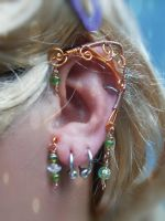Copper Elven Ear Wrap by SereneFaury