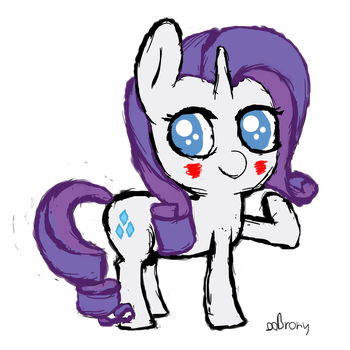 Rarity Chib by ooReiko