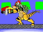 Colored: DracoRex Bowser Man by SilverZeo